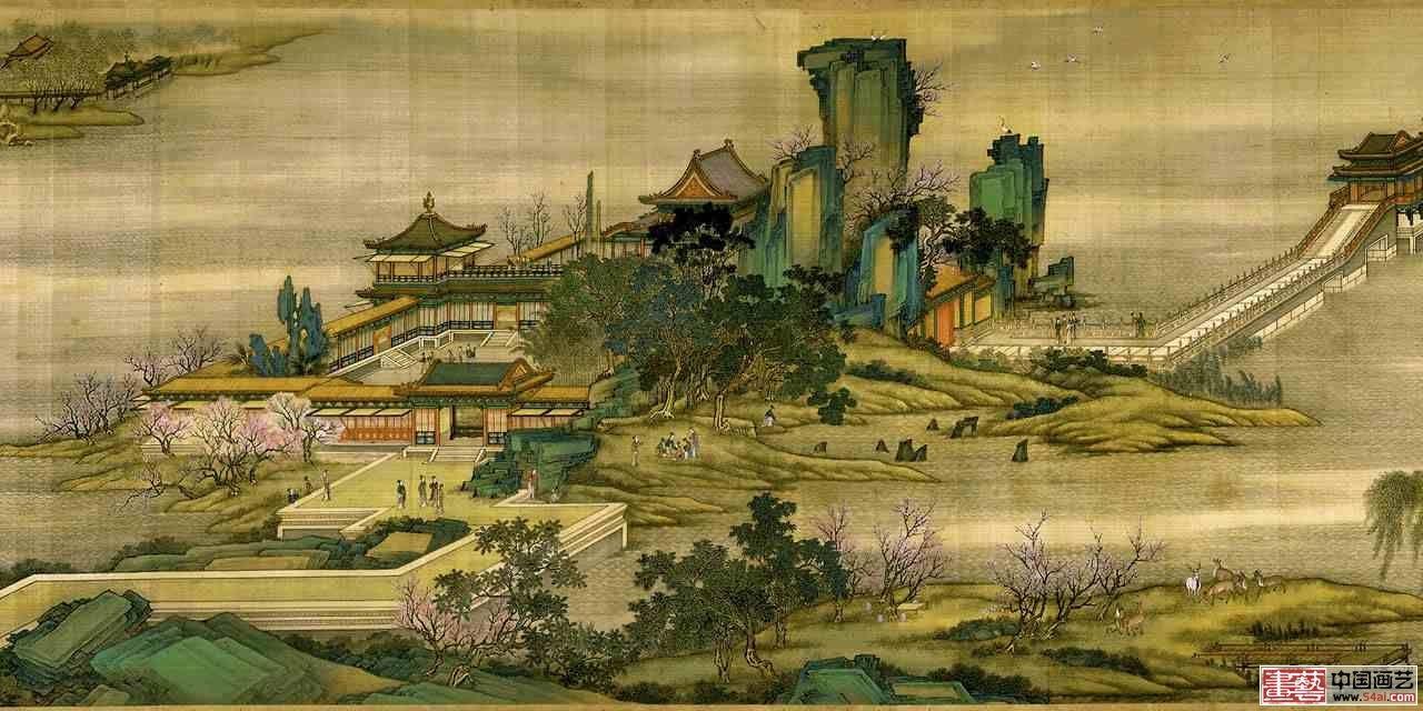 茶室欧式风景油画